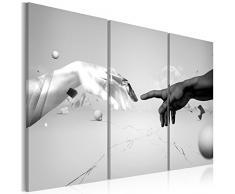 Impression sur toile 120x80 cm - Grand format - XXL - 3 Parties - Image sur toile - Images - Photo - Tableau - motif moderne - Décoration - pret a accrocher - Abstraction 020101-29 120x80 cm B&D XXL