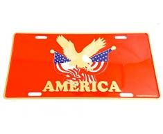 Plaque d'immatriculation Américaine Metal America Liberty Eagle