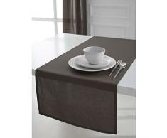 Chemin de table 100% coton bronze 50x150cm