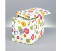 Zeller 17854 Boite de rangement en carton pour enfants, 27,5 x 36 x 26,5 cm