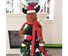 RB Cimier de Sapin de Noël avec écharpe de Buffle, Renne, Taille L