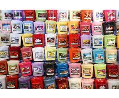 Lot de 5 bougies parfumées et colorées Yankee Candle
