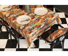 S'applique à table table basse armoire télévisée Plaque d'immatriculation américaine modèle personnalisé plaque d'immatriculation motif papier peint rétro impression toile toile de table tissu Couleur antistatique antidérapante