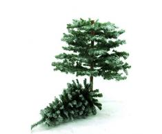 Lot 2 x Arbre de Noël artificiel, enneigé, tronc naturel, avec un socle en métal, 180 cm - 2 pcs arbre artificiel / sapin artificiel - artplants