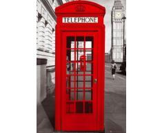1art1 49303 Poster Londres Cabines Téléphoniques Perspective Big Ben 91 x 61 cm