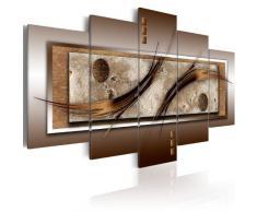 Impression sur toile 100x50 cm - 5 pieces - Image sur toile - Images - Photo - Tableau - motif moderne - Décoration - pret a accrocher - abstraction abstrait 020101-22 100x50 cm B&D XXL