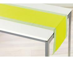 Douceur d'Intérieur Jazzy Chemin de Table Coton Vert 40 x 140 x 140 cm