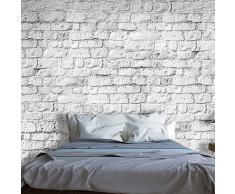 murando – Papier peint intissé – 50x35 cm – Papier peint – Tableaux muraux – Déco – XXL– blanc brique paroi f-A-0334-a-a