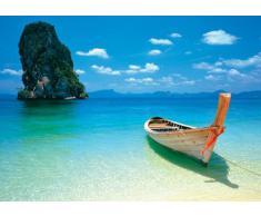 1art1 39572 Plages Poster Barque sur la Plage Tropicale Phuket Thaïlande 91 x 61 cm