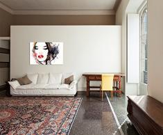120 x 80 Cm tableau peinture à la main femme fille visage peinture sur toile moderne motif élégant photos et décoration -