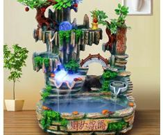 X&L Décoration de fontaine d'eau rocaille Résine poissons intérieure réservoir bonsaï humidificateur (56 * 48 * 86cm) , 56*48*86cm