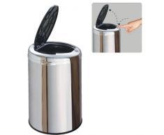 Kitchen Move BAT-30LHJ AS Contemporain Poubelle Semi Automatique One Touch Inox/ABS 30 L
