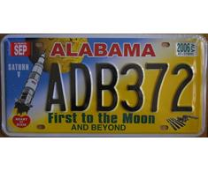 Plaque dimmatriculation américaine «Alabama», 31 x 16 cm