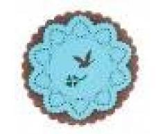 Napperon Dessous de Verre Motif de Cerf Pad Silicone Isolant - Bleu