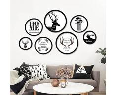 DIYthinker Américaine USA Car Plaque d'immatriculation Numéro Idaho Illustration Rond Motif Simple Cadre Photo Art Prints Peintures Accueil Stickers Mu Small Noir