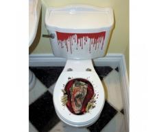Décoration autocollante pour abattant de wc Halloween - Taille Unique