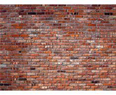Murs Papier Peint Photo/Poster - Mur En Briques Rouges, 4 Parties (360 x 255 cm)