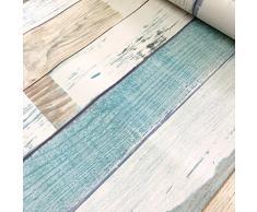 Panneau de bois décoratifs Motif Contact papier autocollant Shelf Liner Peel et bâton papier peint haute qualité pour meuble de cuisine Countertop étagères projets d'artisanat 45 x 199,9 cm