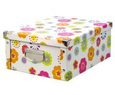 Zeller 17853 Boite de rangement en carton Kids, 32,5 x 10 x 27,5 cm