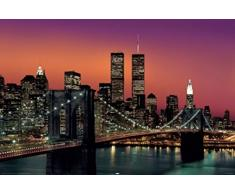 1art1 New York Poster - Manhattan, Brooklyn Bridge (91 x 61 cm)