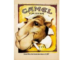 CAMEL ADVERTISING CIGGARETTES. 1976 FINE ART PRINT POSTER AFFICHE 30X40 CM 12X16 IN HOME DECOR BB8061B