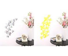 Ufengke® 12 Pièces 3D Fleurs Stickers Muraux Design De Mode Bricolage Fleurs Art Autocollants Artisanat Décoration De La Maison, Blanc