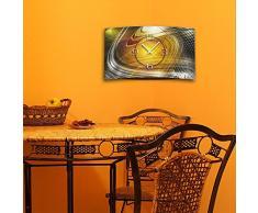 DIXTIME 3D-0401 Horloge murale digitale de designer, abstraite et moderne, silencieuse sans bruit de tic-tac