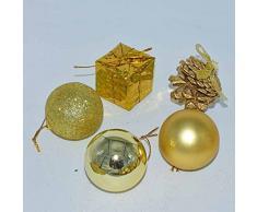 Everesta Lot de 35 boules de Noël 5cm de boules déco noël guirlande boules cimier Noël incassable Boules Décoration ,ce lot complet de décoration vous permet d'avoir tous les accessoires de déco pour votre sapin.- Thème couleur