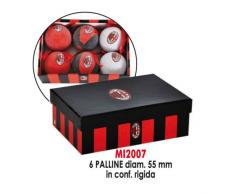 GIEMME articles promotionnels – Lot 6 boules de Noël Cimier Milan Produit officiel Football série à Novita '