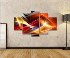 Impression sur toile Bunte Wellen Abstraktes MF Image sur toile - Images - Photo - Tableau - Tableaux - déco murale