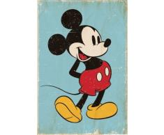 Mickey Mouse : Rétro Poster grand format 61 x 91.5 cm