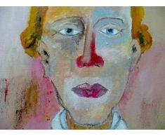 Peinture acrylique Art. Toile, tableau décoration. Portrait Ernest Nostalgick.
