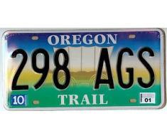 Plaque immatriculation américaine Oregon Trail