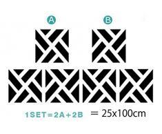 Ufengke® 4 Pièces 3D Carré Effet De Miroir Stickers Muraux Design À La Mode Art De Décalque Décoration De La Maison Argent
