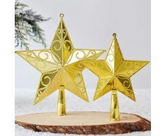 TREESTAR Cimier Étoile de Noël en Plastique Scintillantes pour Noel Objets de Décoration NoëL Ornements darbre de Noël DéCoration de Sapin de Noel