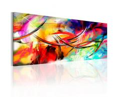 B&D XXL murando Impression sur Toile intissee 135x45 cm 1 Piece Tableau Tableaux Decoration Murale Photo Image Artistique Photographie Graphique Abstrait a-A-0001-b-b