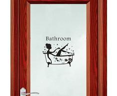 Bearbelly - Autocollant Mural, Stickers Muraux pour Toilette/salle de bain/Baignoire Porte Autocollant Stickers Muraux, Créatif Imperméable Amovible Décorations Intérieure Stickers