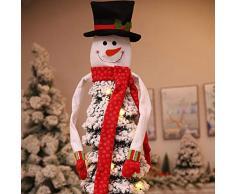 yummyfood 2020 Décorations Darbres De Noël Père Noël Bonhomme De Neige Wapiti Cimier De Sapin De Noël pour Nouvel an, La Maison, Salle De Classe, Magasin, Café, 120x94cm