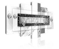 Impression sur toile 100x50 cm - 5 pieces - Image sur toile - Images - Photo - Tableau - motif moderne - Décoration - tendu sur chassis - abstraction abstrait 020101-165 100x50 cm B&D XXL