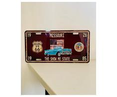 Plaque Immatriculation Américaine - Route 66