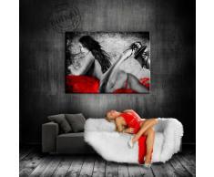 """Image sur toile de lin motif """"abstrait femme érotique différentes tailles ! impression sur toile tendue sur cadre bois tABLEAU-cADRE moins cher que la peinture à l'huile, poster affiche, et aucune affiche ou affiche, 120 x 80 cm"""
