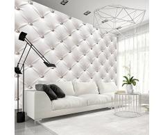 murando – Papier peint intissé – 350x245 cm – Papier peint – Tableaux muraux – Déco – XXL– blanc moderne f-B-0039-a-a