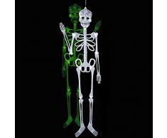 Squelette Phosphorescent 90x20cm - Halloween Accessoire Décoration - 569