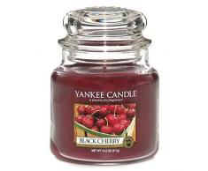 Yankee Candle 1129752E Bougie Parfum Cerise griotte Jarre Moyenne, Verre, Rouge