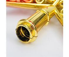 """Creux Cimier De Sapin De Noel Etoile, Décorations Sapin De Noel, Brillantes, Rouge Et Or, 20Cm(7.9"""")"""