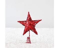 TREESTAR Cimier Étoile de Noël Art de Fer Objets de Décoration NoëL Ornements d'arbre de Noël DéCoration de Sapin de Noel