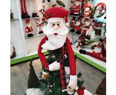 yummyfood 2020 Décorations D'arbres De Noël Père Noël Bonhomme De Neige Wapiti Cimier De Sapin De Noël pour Nouvel an, La Maison, Salle De Classe, Magasin, Café, 120x94cm