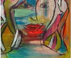 Visage de femme. Peinture sur toile. Art. Tableau