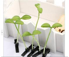 SHINA mode 5pcs unisex épingles à cheveux comportant des plantes artificielles germe de soja Petite herbe tête pousse de bande dessinée en épingle à cheveux