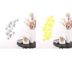 Ufengke® 12 Pièces 3D Fleurs Stickers Muraux Design De Mode Bricolage Fleurs Art Autocollants Artisanat Décoration De La Maison, Rouge